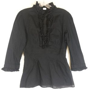 J. Crew Factory black blouse